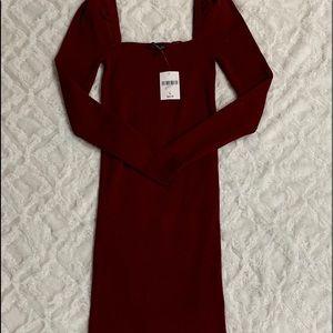 Knee length sweater dress